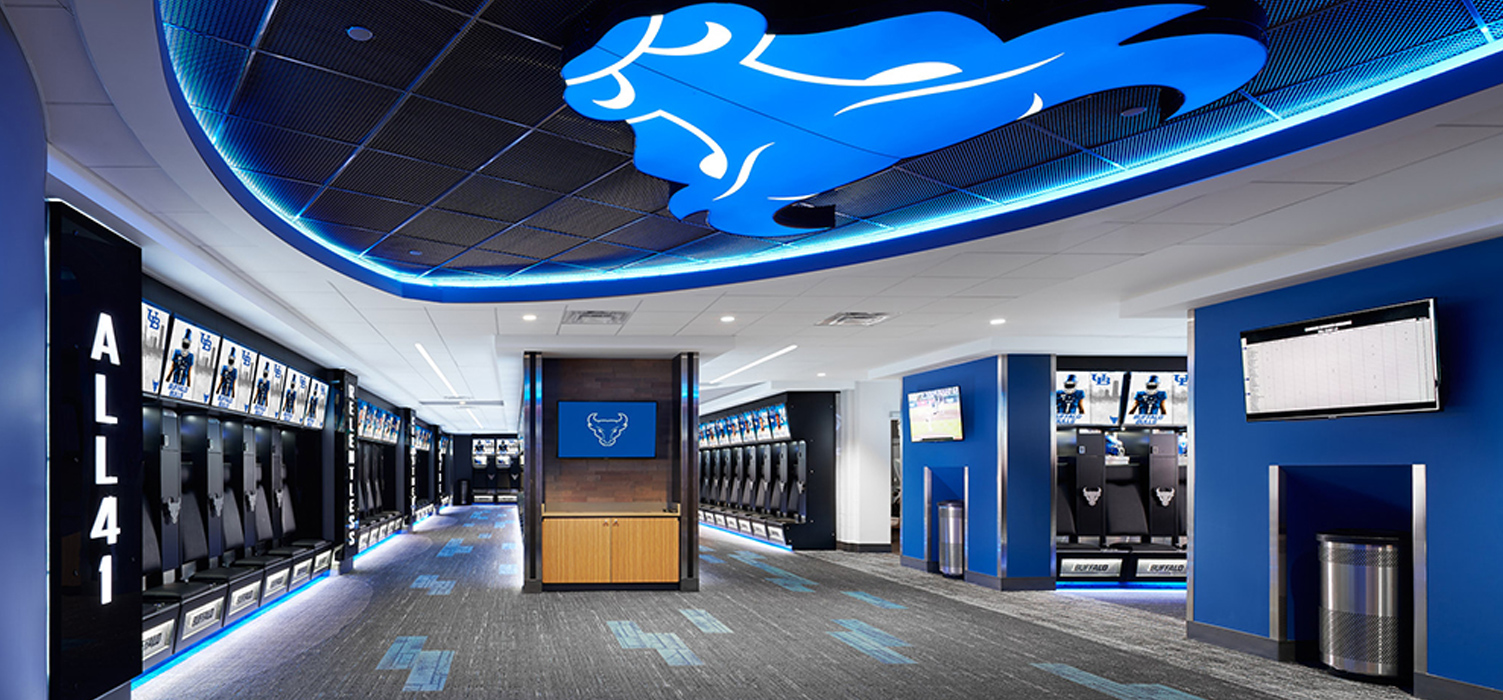 UB Football Lockers by Architectural Resources